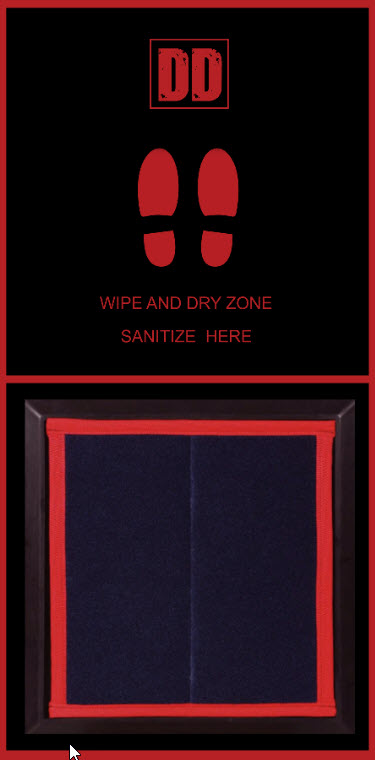 shoe sanitizer mats are Shoe Disinfectant Dispensing Mats